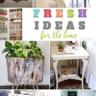 Fresh Ideas for the home at TidyMom.net