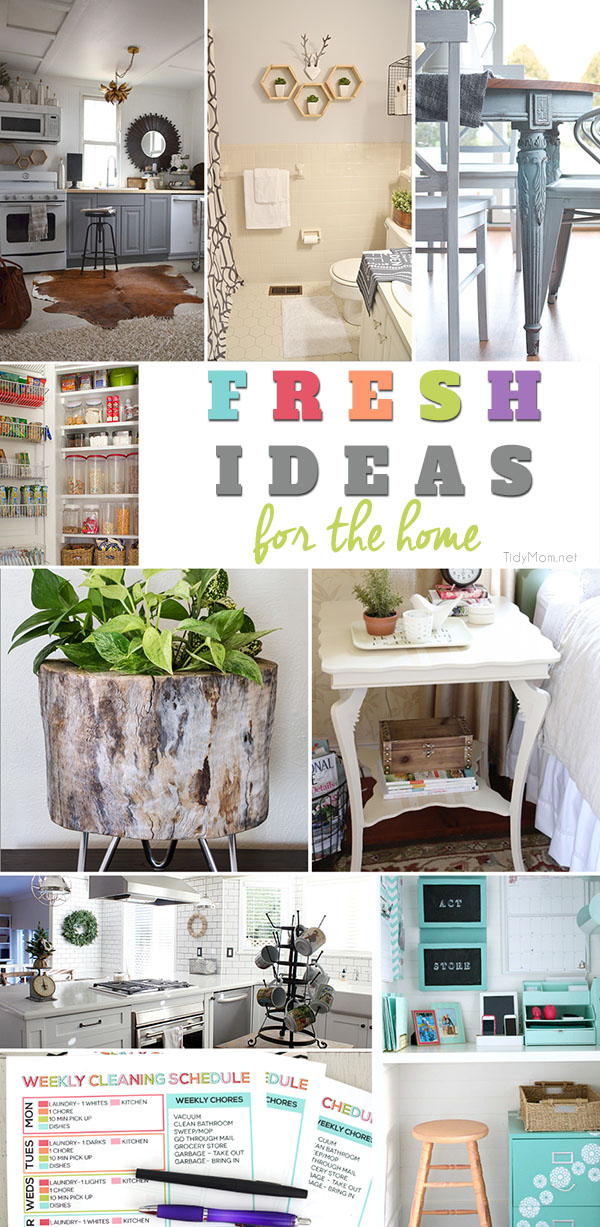 Give your decor a boost with these fresh ideas for your home. Get more details at TidyMom.net