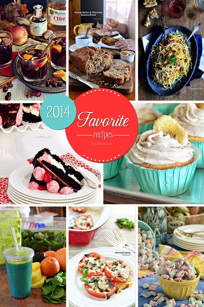 Favorite Family Friendly Recipes of 2014 at TidyMom.net
