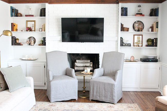 Simple storage solutions for keeping a HOME with ALL WHITE INTERIOR DESIGN from Julie of Coordinately Yours at TidyMom.net