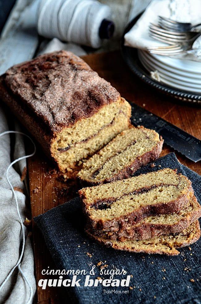 Homemade Cinnamon bread recipe at TidyMom.net