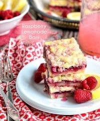 Raspberry Lemonade Bars recipe at TidyMom.net image