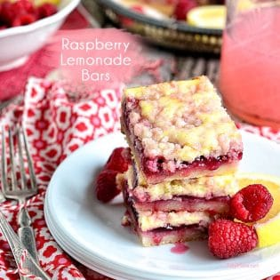 Raspberry Lemonade Bars recipe at TidyMom.net image