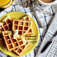 Weekend Buttermilk Waffles