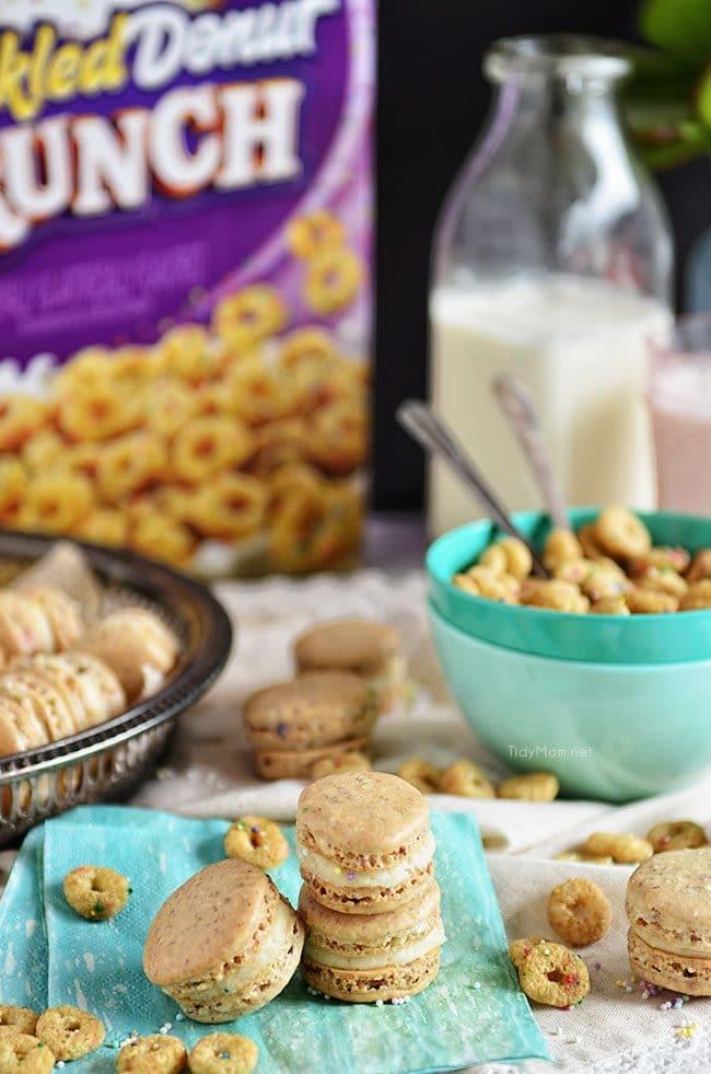 Sprinkled Donut Macarons recipe at TidyMom.net