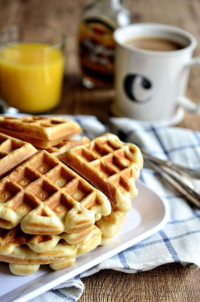 a stack of Buttermilk Waffles