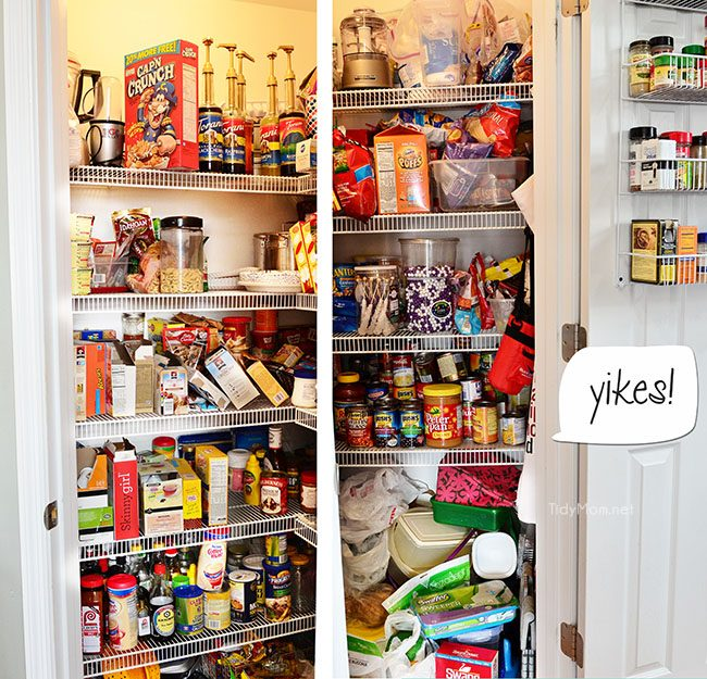 Messy, disorganized pantry