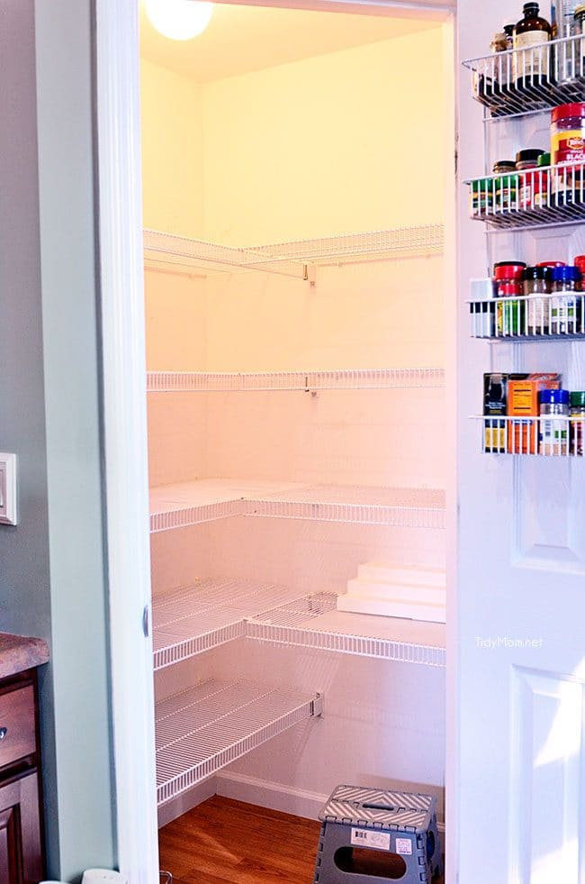 empty pantry to organize
