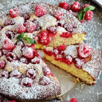 Lemon-Raspberry Coffee Cake