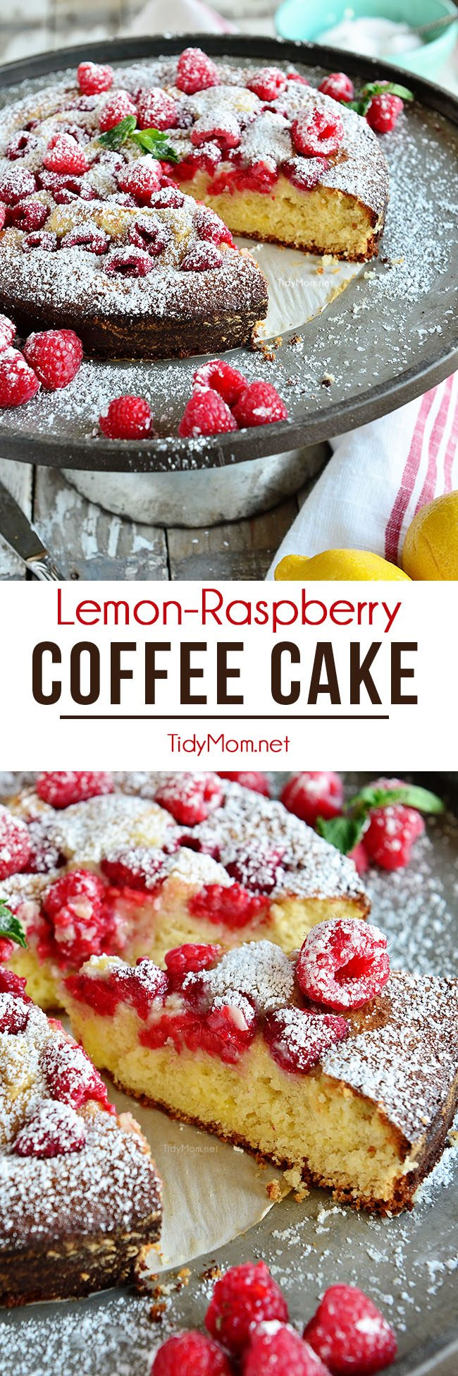 Lemon Raspberry Coffee Cake photo collage
