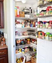Real Life Pantry Organization- have an organized and completely functional space without spending a fortune and see what you have (and don't have) on hand at TidyMom.net