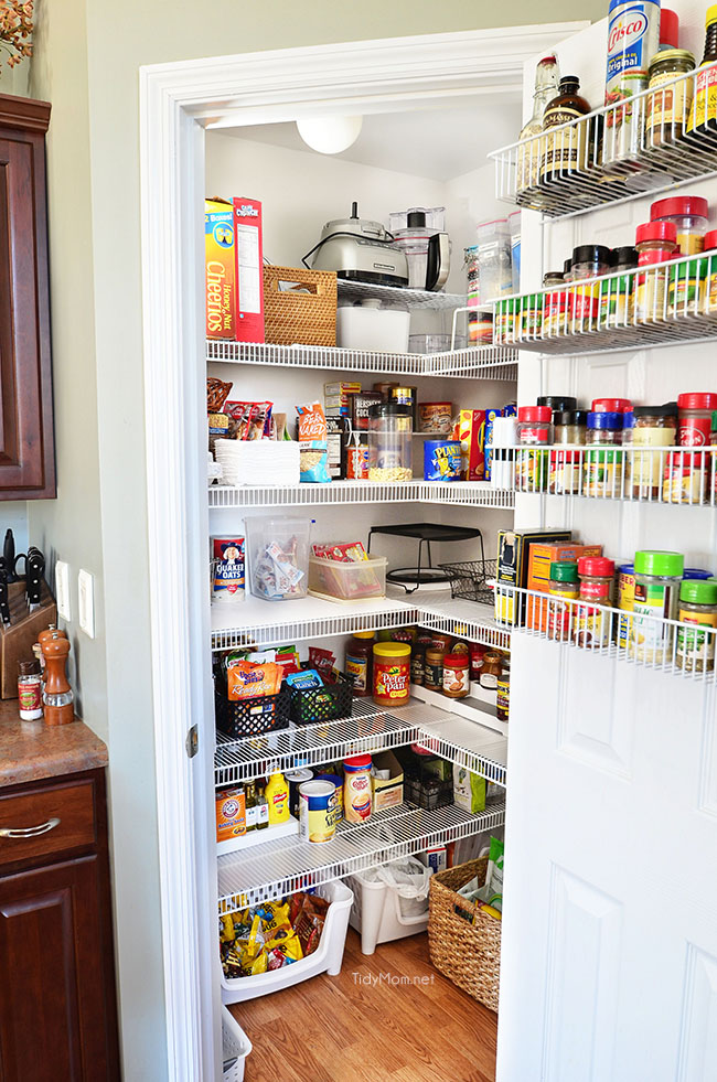 kitchen storage pantry real pantry organization tidymom 174 3169