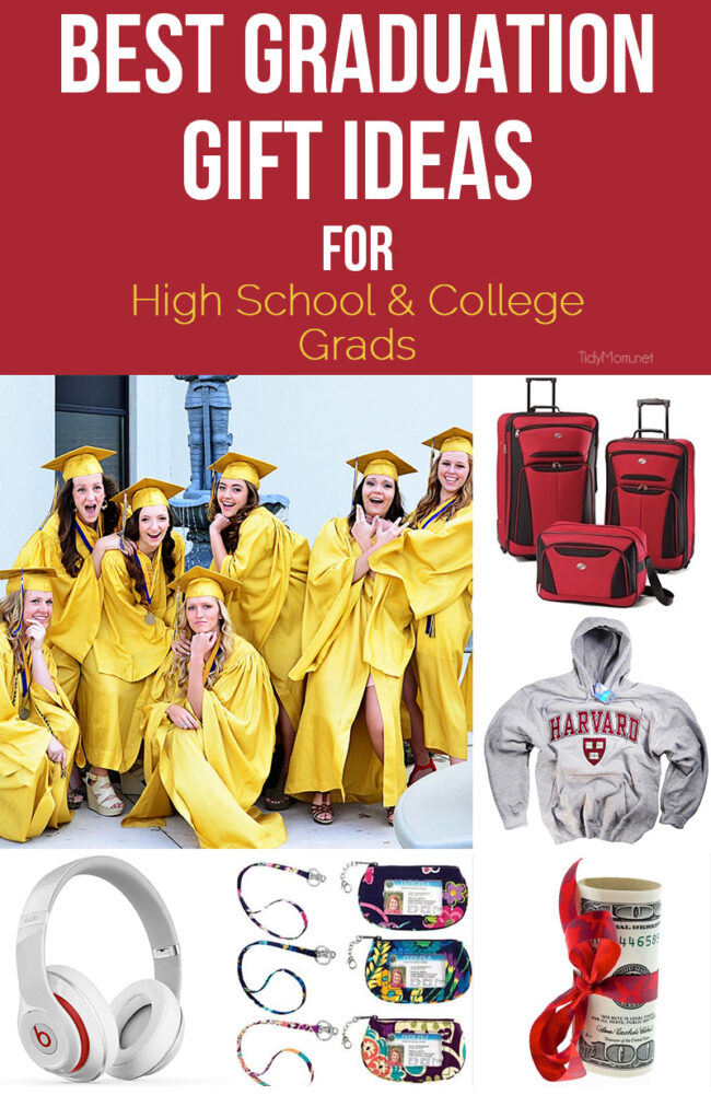 BEST Graduation Gift Ideas for High School & College Grads! TidyMom.net