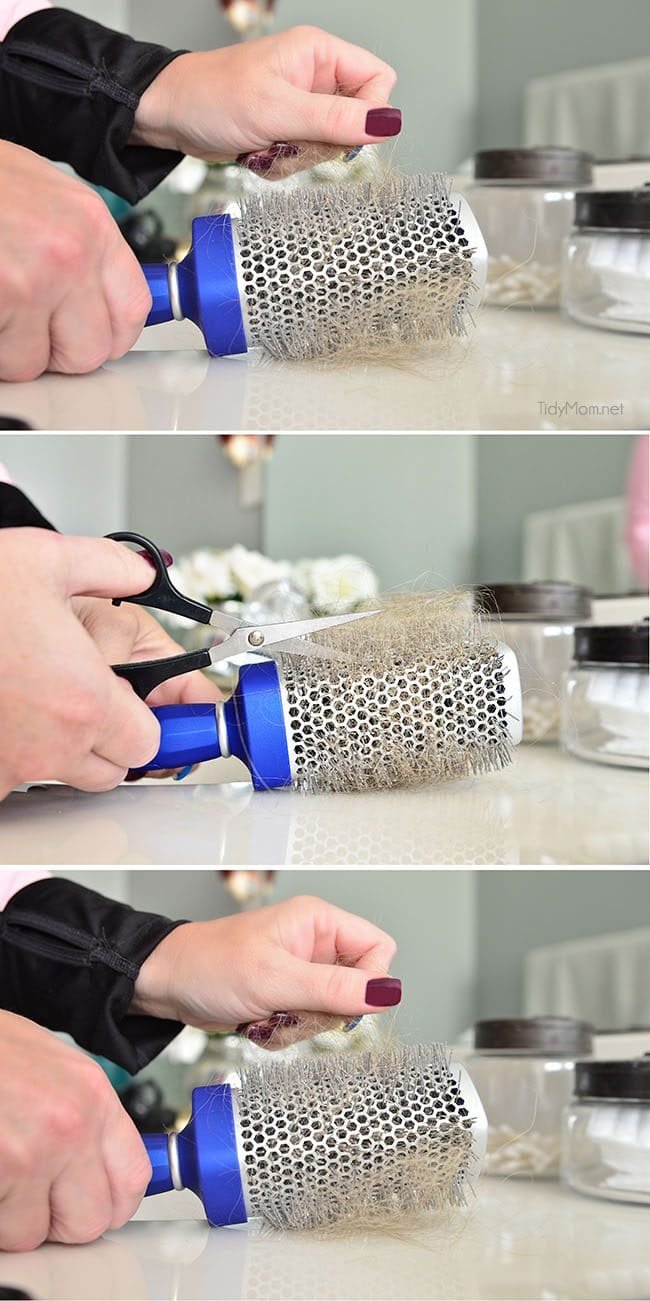 How to clean a round hairbrush and keep your hair healthy at TidyMom.net