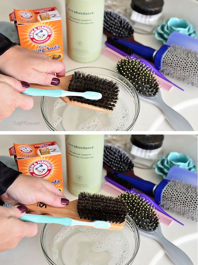 How to clean a wooden hairbrush and keep your hair healthy at TidyMom.net