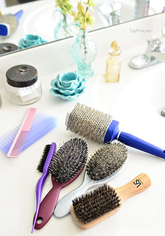 How to clean hairbrushes and keep your hair healthy at TidyMom.net
