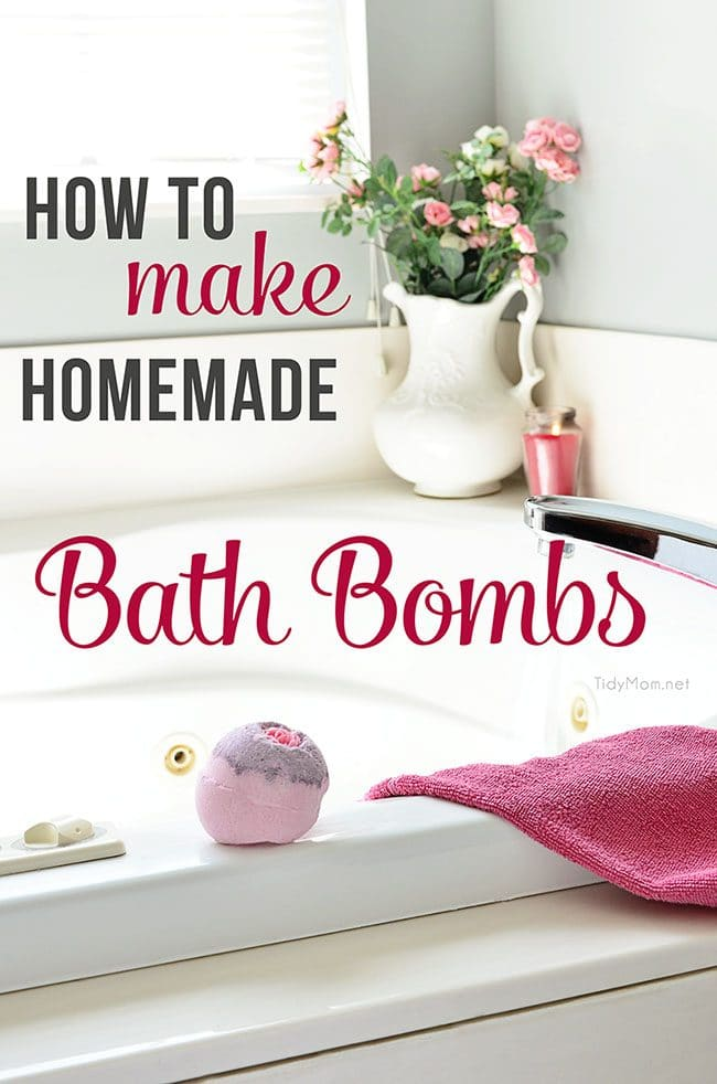 Make your own HOMEMADE BATH BOMBS - great for relaxation and gift giving!