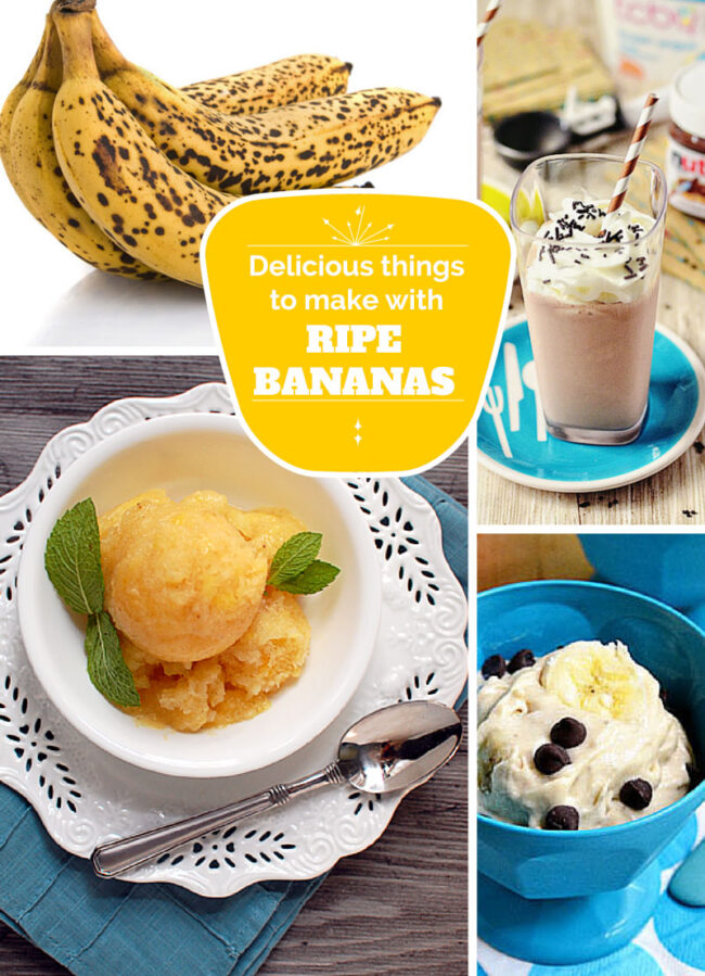 Delicious things to make with ripe bananas! via TidyMom.net