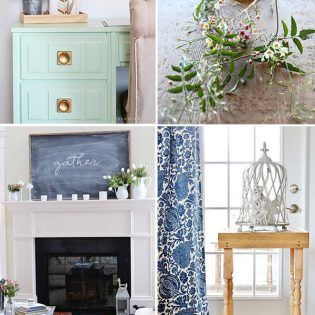Spring ideas for the home at TidyMom.net