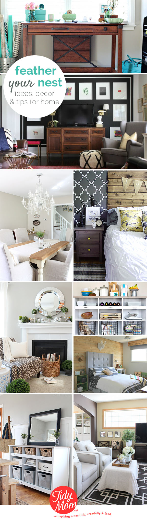 Feather Your Nest: Ideas, decor and tips for your home at TidyMom.net