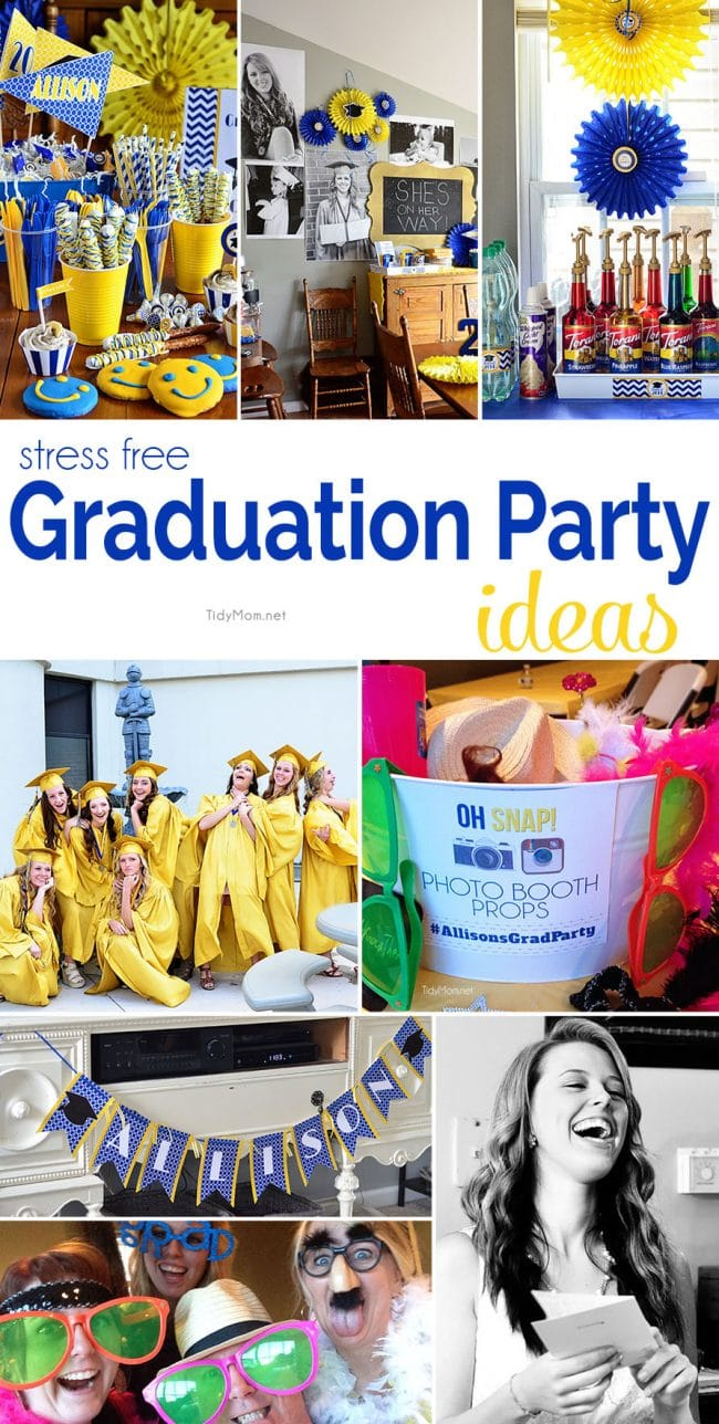 Stress Free Graduation Party Ideas | TidyMom®