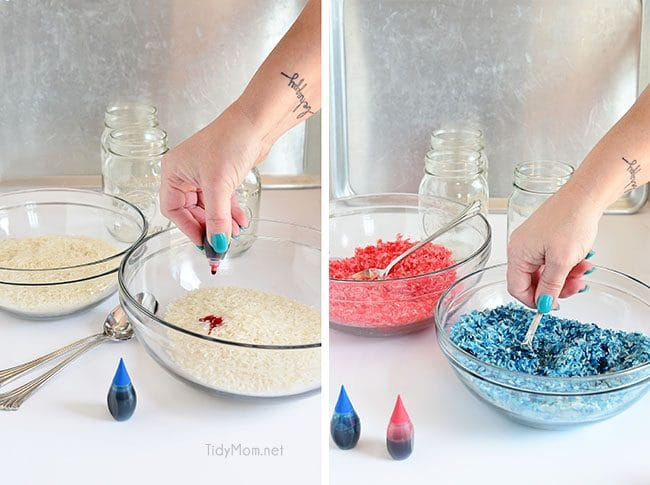 How to Make Colored Rice at TidyMom.net