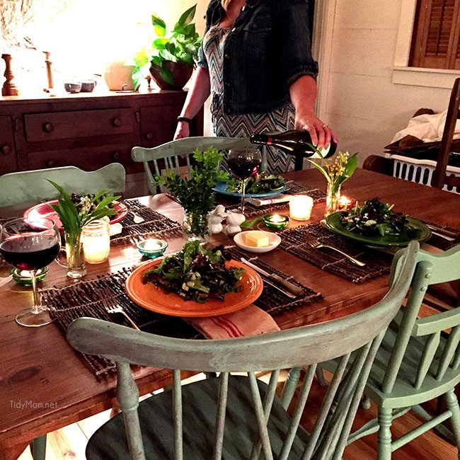 Rustic Tablescape in mountain home. Brevard, NC