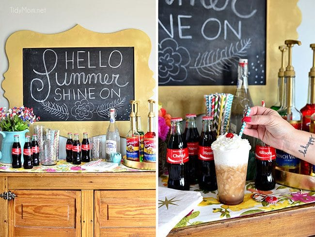 DIY Flavored Coca-Cola Soda Bar at TidyMom.net #shareacoke