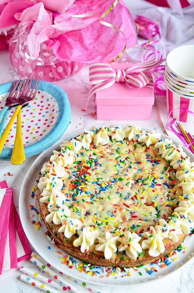SUGAR COOKIE CAKE full of sprinkles!