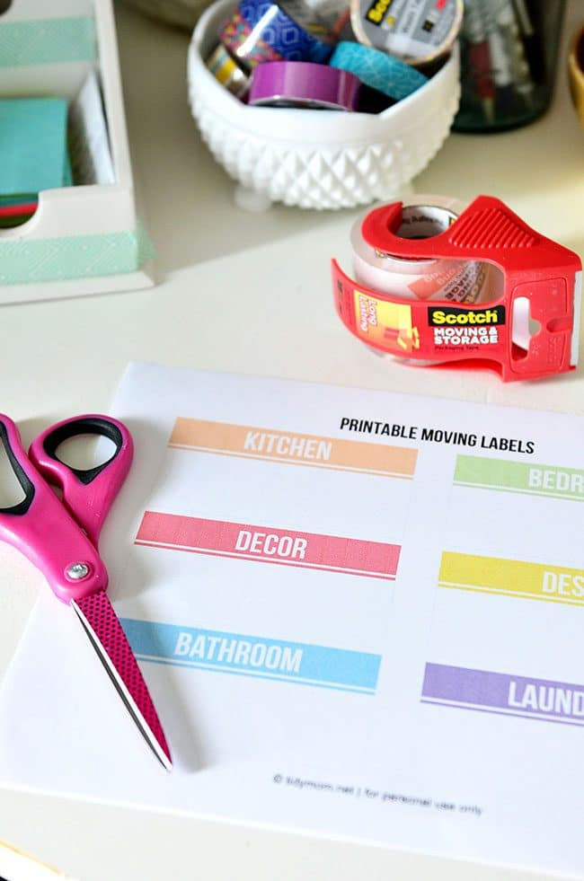 picture about Printable Moving Labels named Do it yourself Shifting Labels - Free of charge Printable TidyMom®