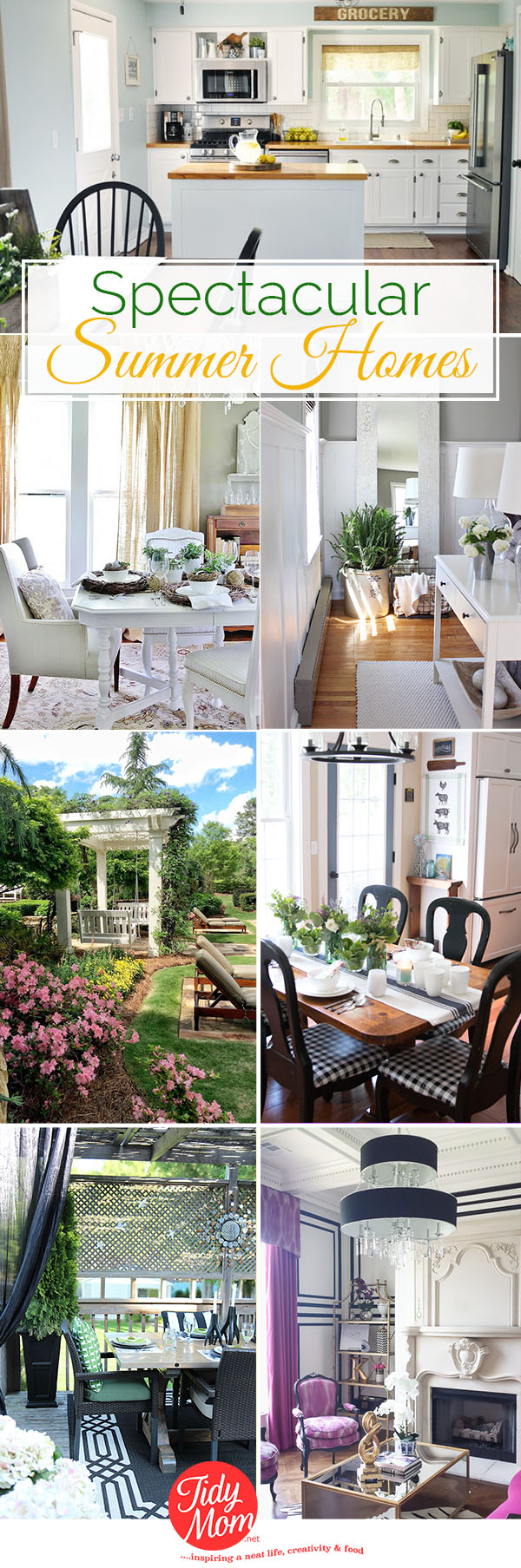 SPECTACULAR SUMMER HOME DECOR Ideas to inspire you at TidyMom.net