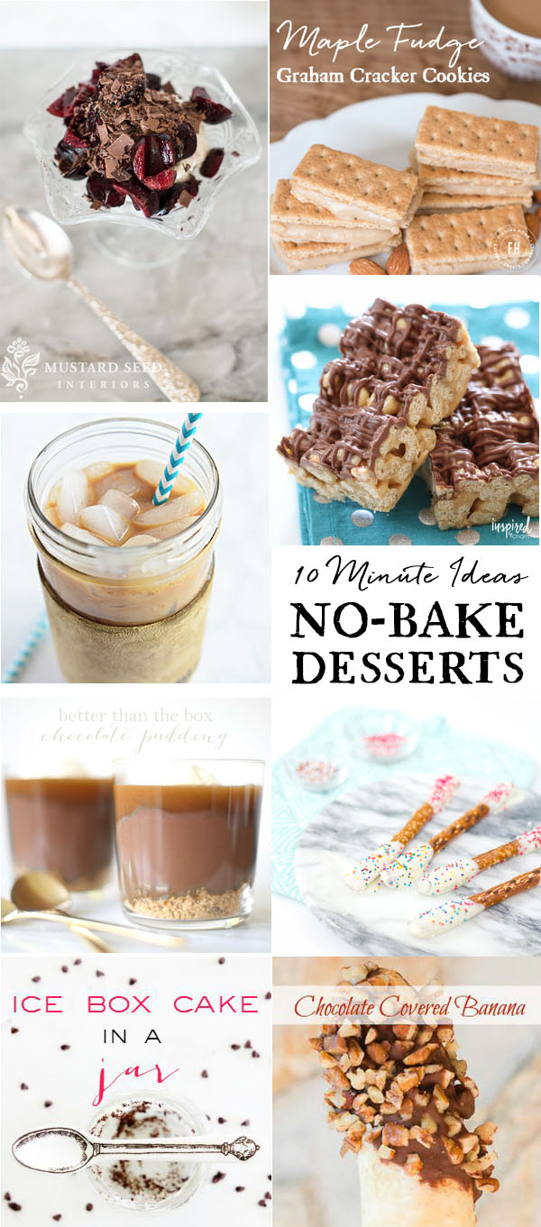 10 minute ideas: no bake recipe you can make in 10 minutes or less!  details at TidyMom.net