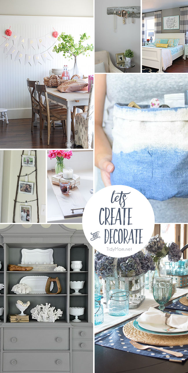 Let's Create and Decorate! 8 projects to inspire you at TidyMom.net