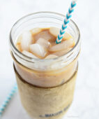Homemade Salted Caramel Ice Coffee recipe at TidyMom.net