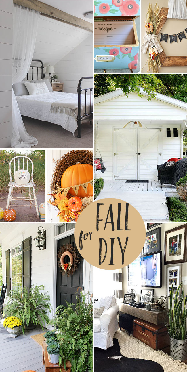 Fall for DIY….projects for your fall home at TidyMom.net