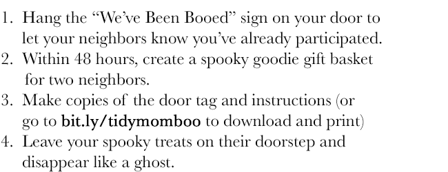 booed instructions