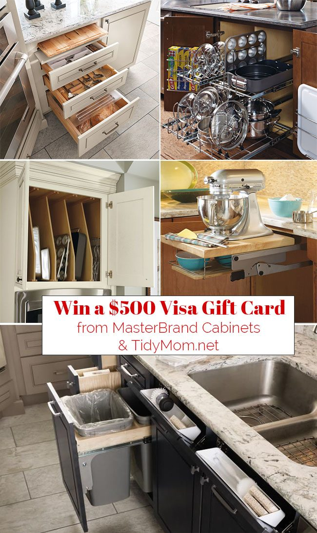 What really makes a kitchen great, is how well it's organized! Smart Organized Kitchen Cabinets from MasterBrand Cabinets keep everything at your fingertips. Learn more and enter to win a $500 Visa Gift Card from MasterBrand Cabinets and TidyMom.net