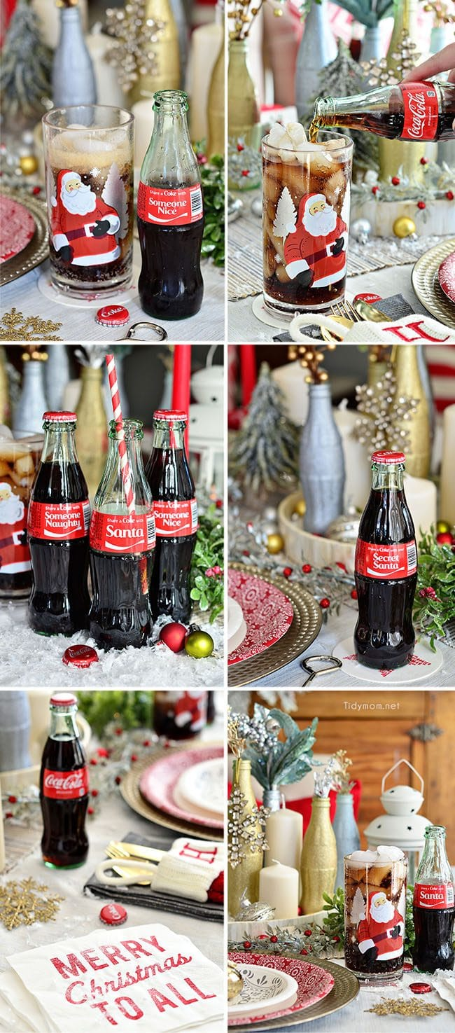 Share a Coke with Santa, Your Secret Santa, Someone Nice or Someone Naughty this Christmas holiday! details at TidyMom.net