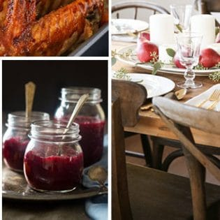 Easy Thanksgiving Table - favorite recipes and table ideas at TidyMom.net