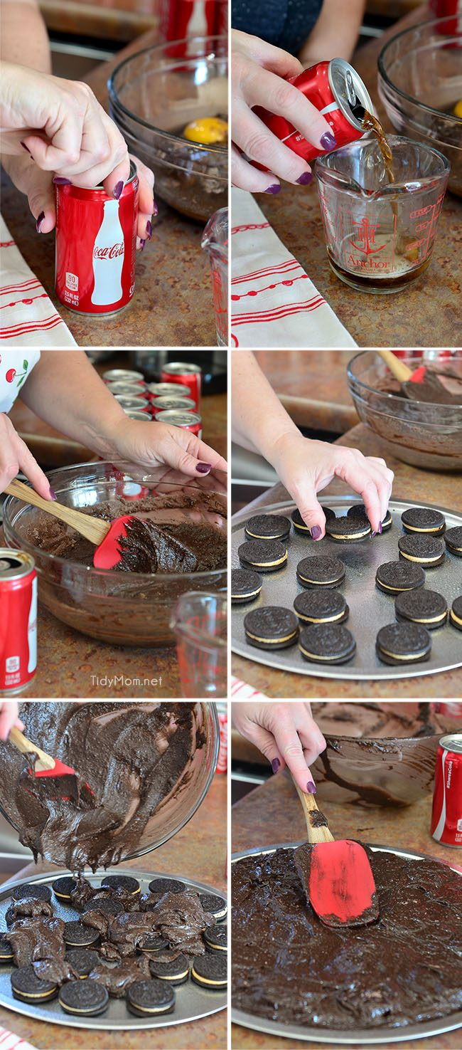 Peanuts in My Coke! Coca Cola Brownie Pizza recipe at Tidymom.net