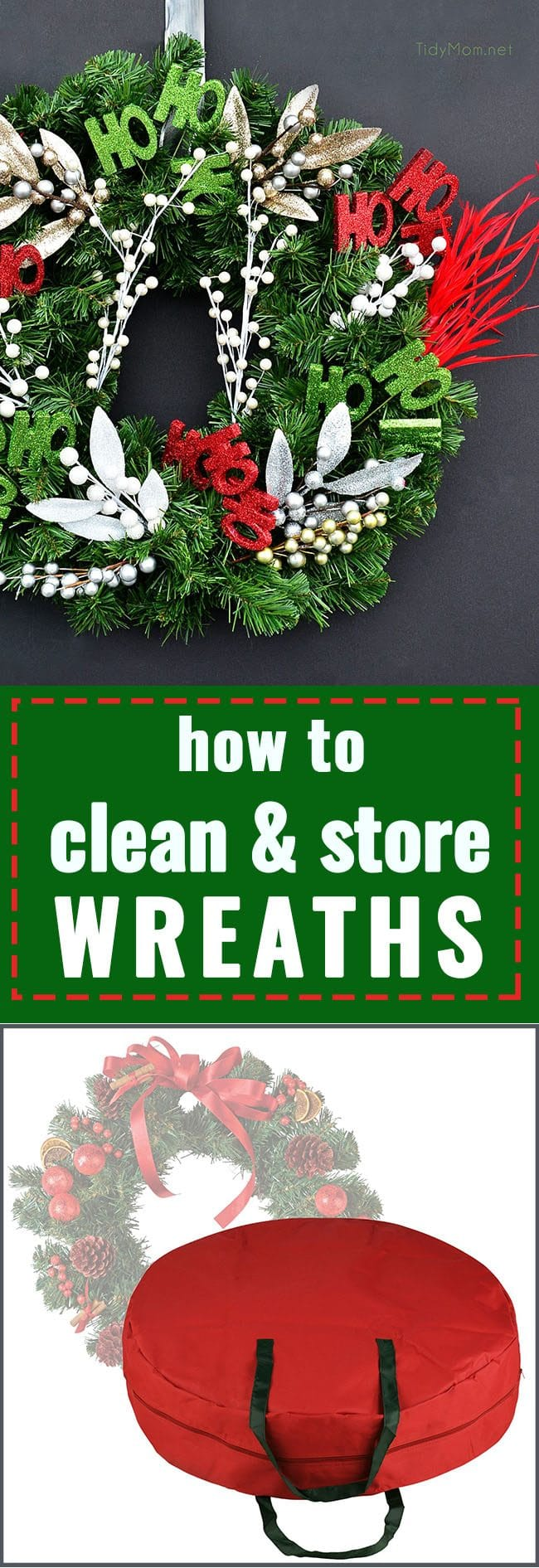 How to Clean & Store Wreaths