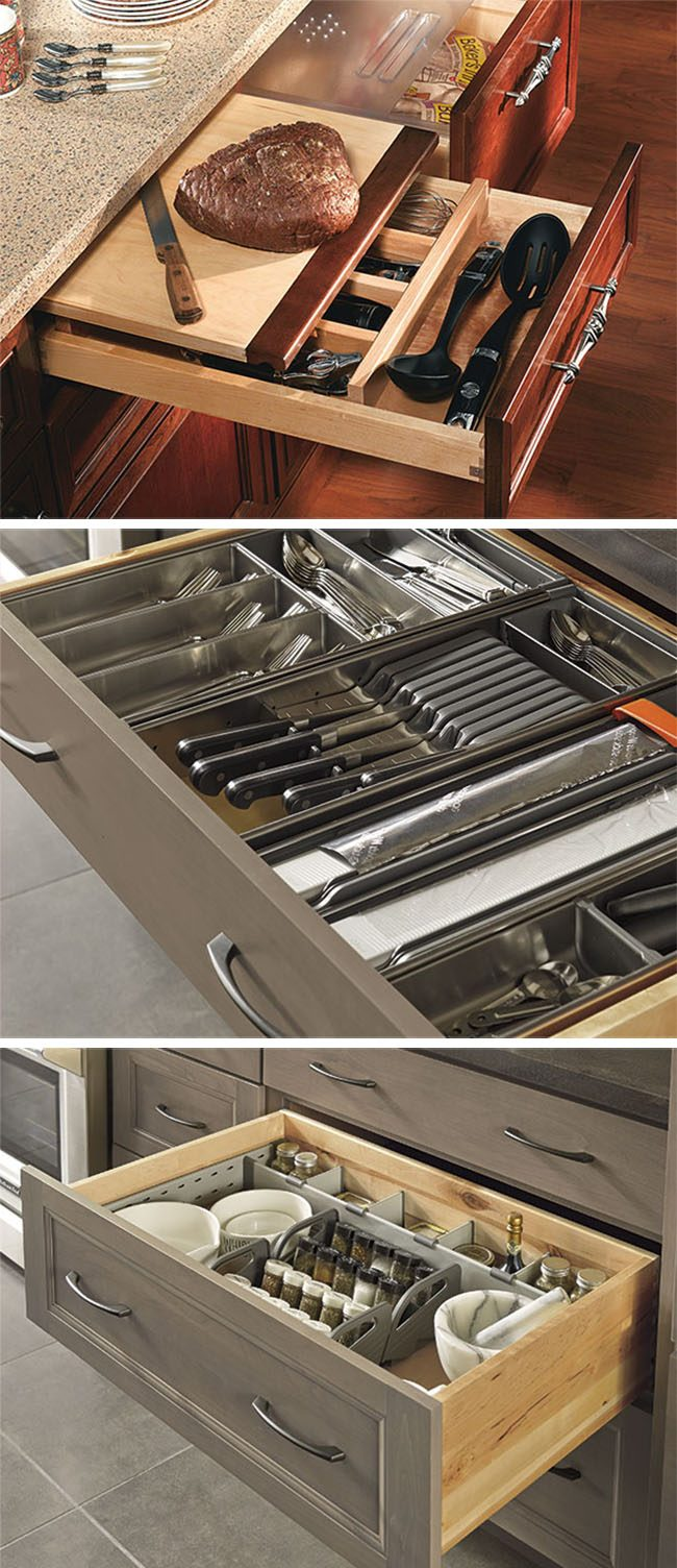 Take Back Kitchen Drawer Organization with MasterBrand Cabinets at TidyMom.net