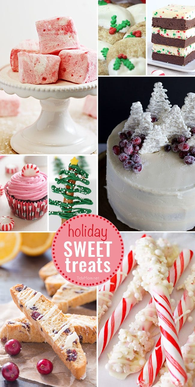 Holiday Sweet Treats to make and enjoy! Details at TidyMom.net
