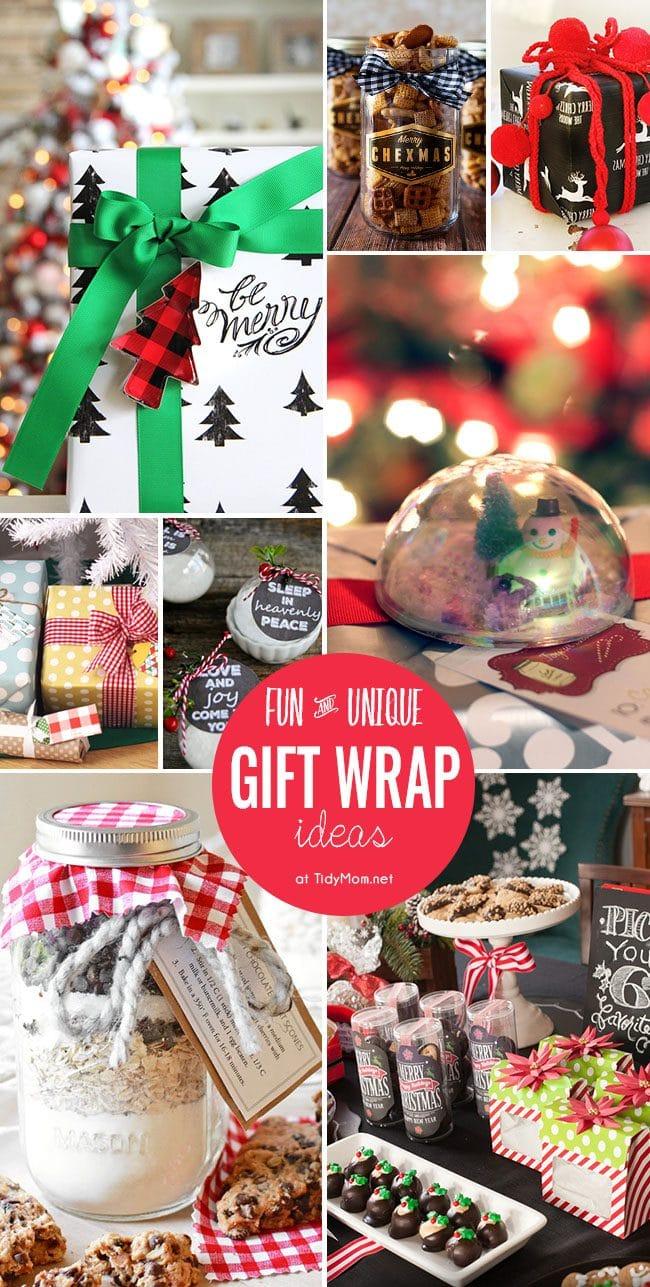 unique gift wrap ideas tidymom. Black Bedroom Furniture Sets. Home Design Ideas