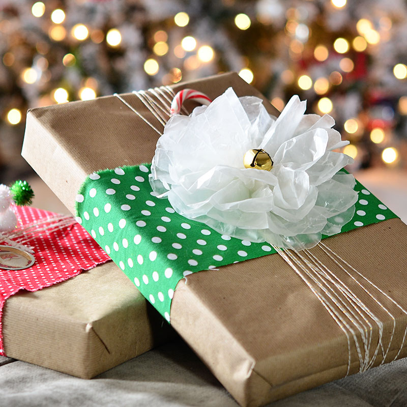 how to make christmas bows out of paper