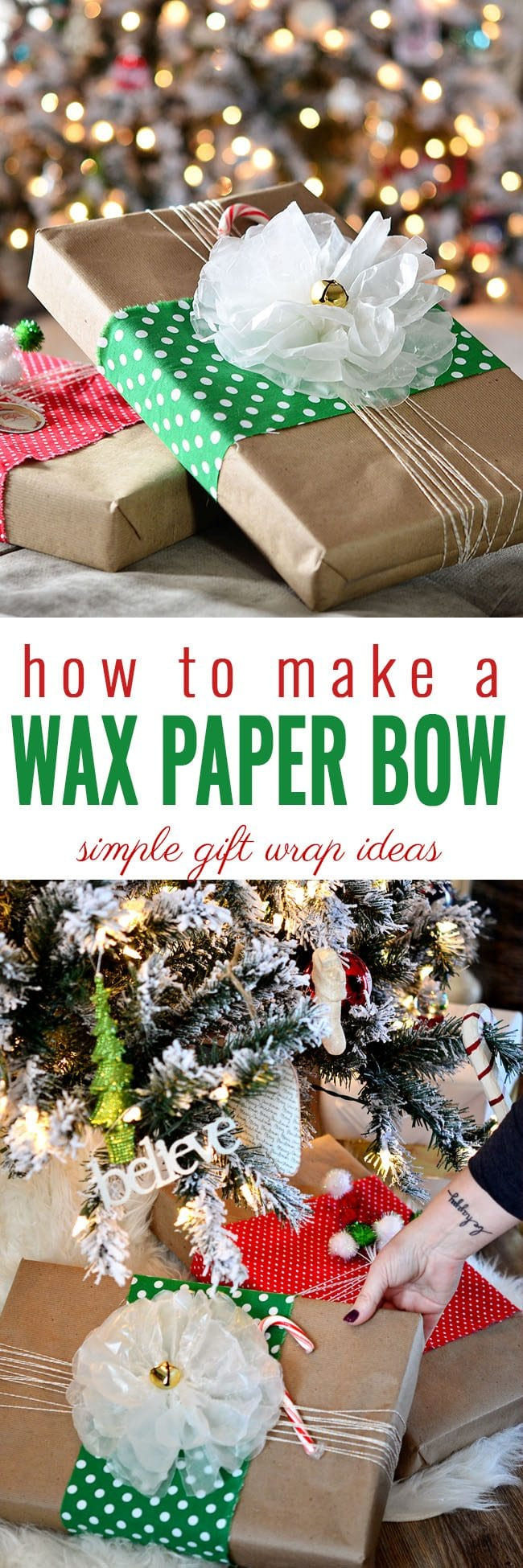 Easy HolidayWax Paper Bow