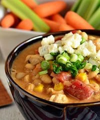 Buffalo Chicken White Chili recipe at TidyMom.net