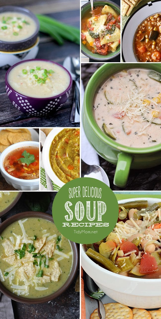 8 Super Delicious Soup Recipes at TidyMom.net