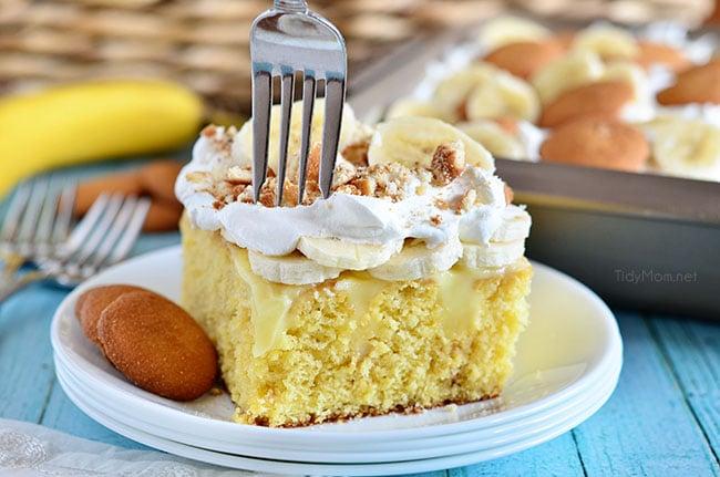 Banana Pudding Poke Cake Recipe On Facebook