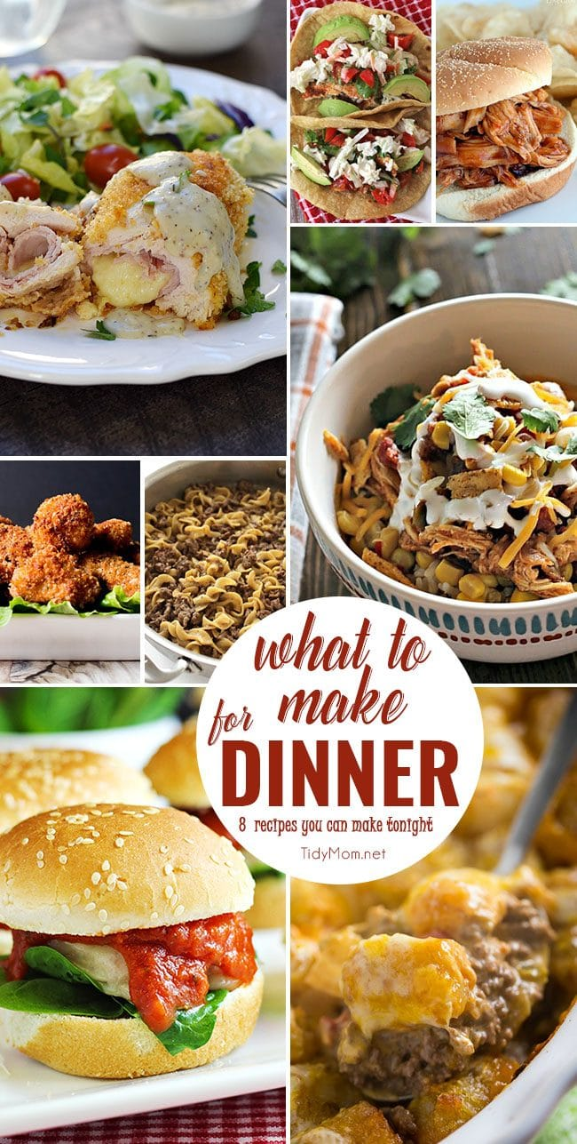 What to make for dinner easy dinner recipes tidymom for What can i make for dinner tonight